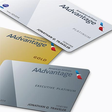 Tarjetas actuales de afiliación al programa AAdvantage