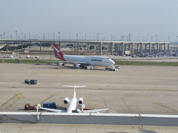 B747 de Qantas en Dallas (DFW)