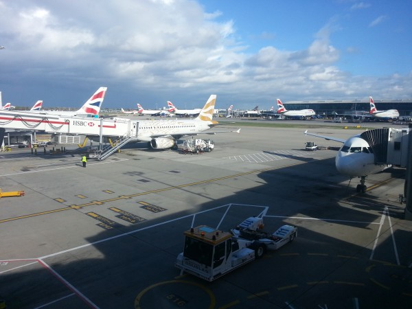 T5 en Heathrow. Territorio British Airways