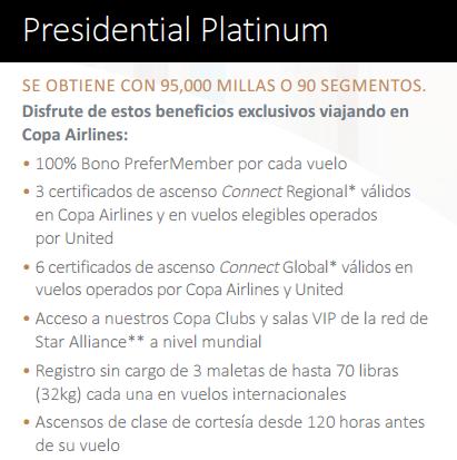 Presidential Platinum Copa ConnectMiles